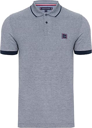 Tommy Hilfiger POLO MASCULINA BADGE OXFORD - CINZA