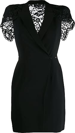 Elisabetta Franchi lace back mini wrap dress - Black