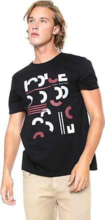 Iodice Camiseta Iódice Manga Curta Estampada Preta