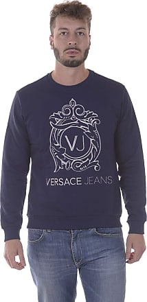 Versace Jeans Couture Mens EB7GPA7F0 Sweatshirt, Blue (Bleu Notte), Medium