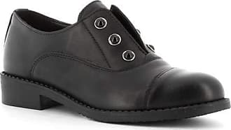 Generico Made in Italy Leather Shoes with Elastic - Black Black Size: 6 UK
