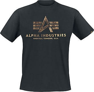 Alpha Industries Basic T - T-Shirt - schwarz, gold