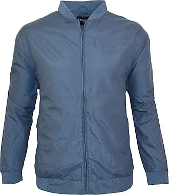 Espionage Mens Lightweight Microfibre Oxford Casual Jacket in Airforce Blue in 5XL