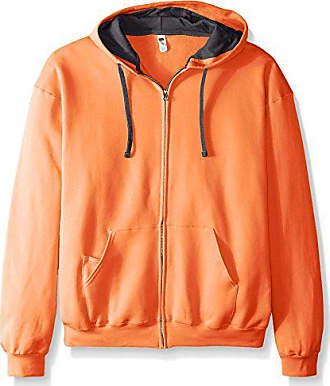Fruit Of The Loom Mens Full-Zip Hooded Sweatshirt, Orange Sherbet, XXX-Large