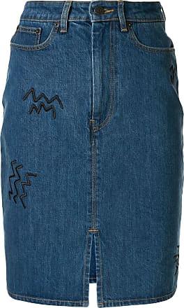 être cécile Saia jeans cintura alta - Azul