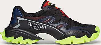 Valentino Garavani Valentino Garavani Uomo Fabric And Leather Climbers Sneaker Man Black Calfskin 100% 39.5