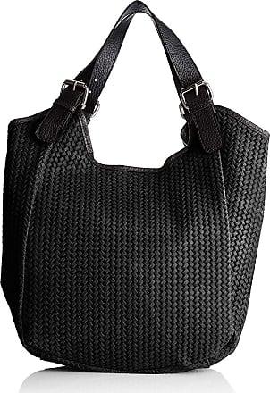 Chicca Borse Handbag shopper women woven print leather 32 x 31 x 9 cm - mod. Marianna