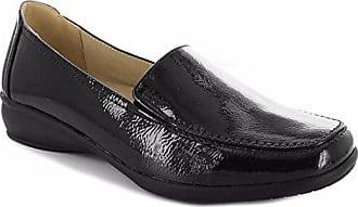 c84353a49a3441 Dr Keller Damen Weite Passform Schuhe Leichte Damen Mokassin flach  niedrigen Keil Passform Komfort Smart Casual