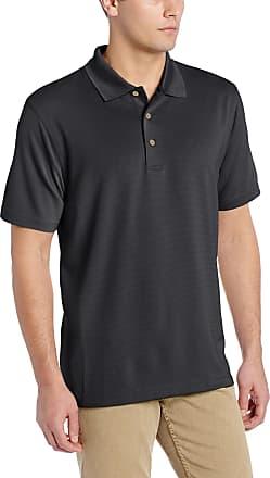 Cubavera Mens Short Sleeve Herringbone Performance Polo Shirt