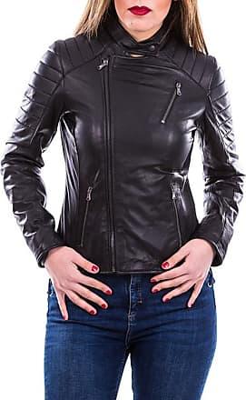 Leather Trend Italy 020 - Giacca Donna in Vera Pelle colore Nero Opaco Morbida