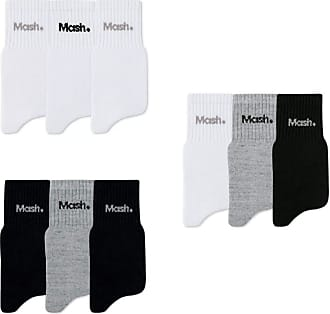 Mash Kit 21 Pares Meias Mash Cano Médio Curto Esportiva Algodão Promoção