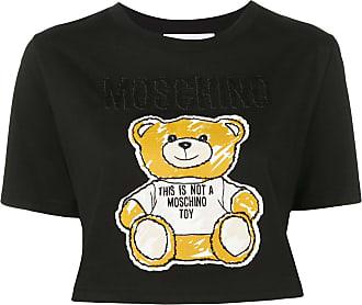 Moschino teddy bear cropped T-shirt - Black