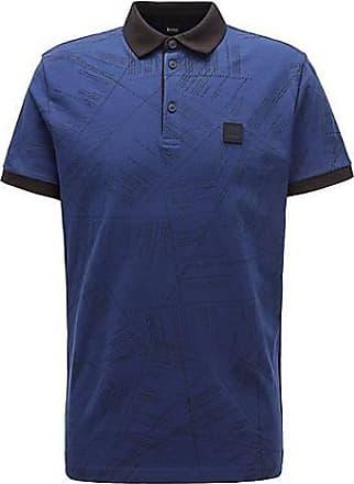 BOSS Poloshirt aus Baumwolle mit aufgedrucktem Algorithmus-Script