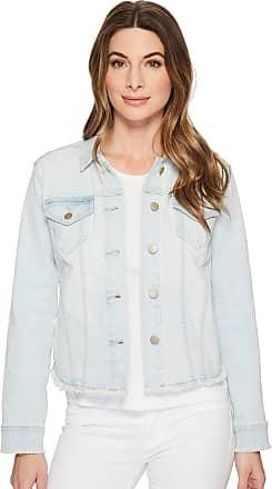 NYDJ Womens Denim Jacket with Fray Hem, Palm Desert, Large