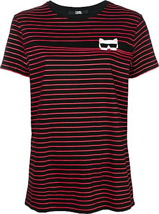Karl Lagerfeld Camiseta listrada Ikonik - Preto