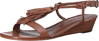 Bernardo Womens Court Wedge Sandal, Luggage, 7 M US