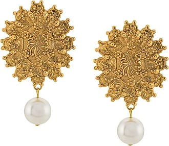 Jennifer Behr Par de brincos pendentes - Dourado