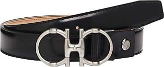 Salvatore Ferragamo Adjustable Belt - 67A033 (Black) Mens Belts
