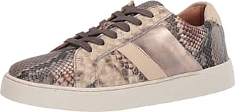 Frye Womens Hallie Low Lace Sneaker, Taupe Snake Multi, 9 UK
