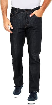 Lacoste Calça Jeans Lacoste Reta Lisa Azul-marinho