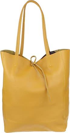 Girly HandBags Girly HandBags Open Top Genuine Leather Handbag (Mustard)