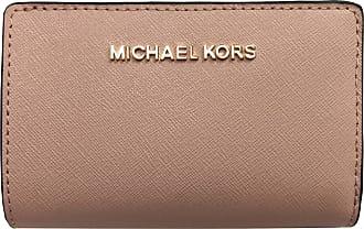 68746ba30c09cd Michael Kors Jet Set Travel PVC Signature Bifold Zip Coin Wallet Clutch