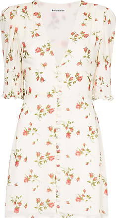 Reformation Vestido com abotoamento e estampa floral Alison - Neutro