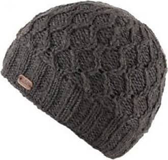 KuSan 100% Wool Wave Cable Brooklyn Beanie Hat PK1927 (Charcoal)