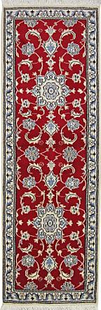 Nain Trading 187x61 Authentic Nain Rug Runner Dark Grey/Beige (Wool, Iran/Persia, Hand-Knotted)