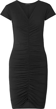 ATM Anthony Thomas Melillo Ruched Stretch-pima Cotton Jersey Dress - Black
