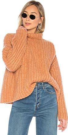 Free People Fluffy Fox Sweater in Burnt Orange