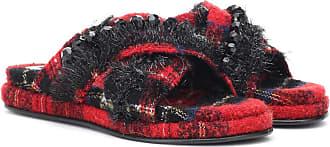Simone Rocha Embellished tartan slides
