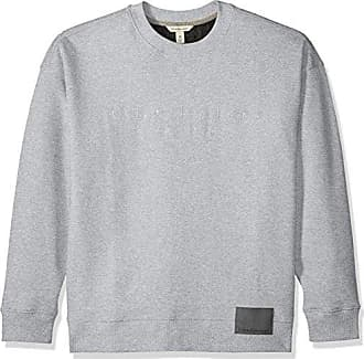 1b3810120cf7 Calvin Klein Jeans Mens Long Sleeve Oversized Crew Sweatshirt with Logo and  Patch