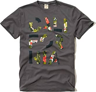 Hollister Mens Logo Dark Grey Graphic T-Shirt X-Large (X-Large)