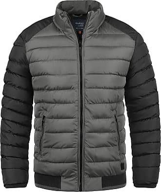 Blend Gallus Mens Quilted Jacket Puffer Jacket Padded Jacket with Funnel Neck, Size:L, Colour:Granite (70147)