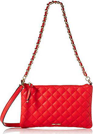 dce3dfd988c26 Nine West Pouchette Crossbody with Chain 2, Fiery red