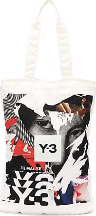 Yohji Yamamoto Bolsa tote com estampa gráfica - Branco
