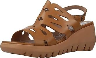 Wonders Women Sandals and Slippers Women D9003 Brown 4 UK