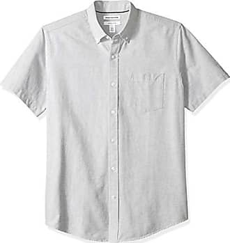 Essentials Regular-Fit Short-Sleeve Stripe Pocket Oxford