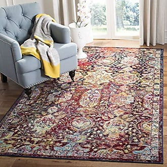 Safavieh Crystal Collection CRS505F Navy and Orange Distressed Area Rug (3 x 5)