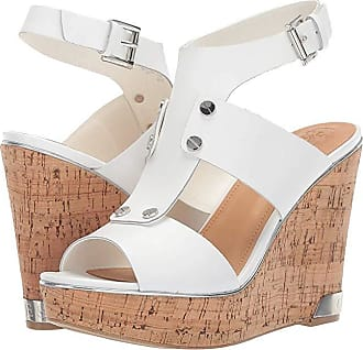 df696f9cfee Guess Halla (White Leather) Womens Wedge Shoes