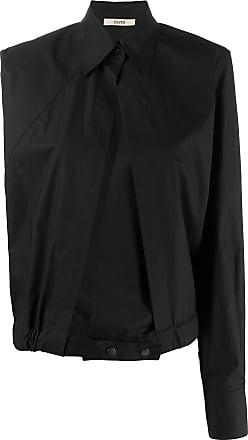 Zilver asymmetric kimono shirt - Black