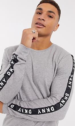 DKNY grey marl long sleeve lounge top