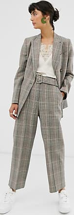 Whistles check tapered trouser-Multi