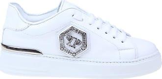Philipp Plein Fashion Woman WSC1687PLE075N01 White Leather Sneakers | Fall Winter 20