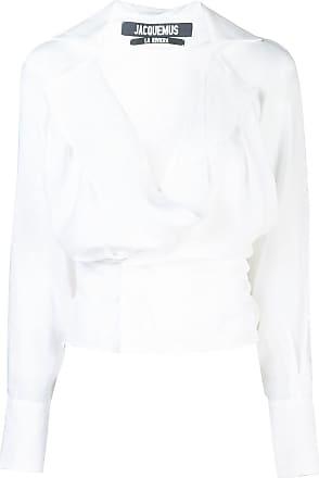 Jacquemus V-neck wrap shirt - White