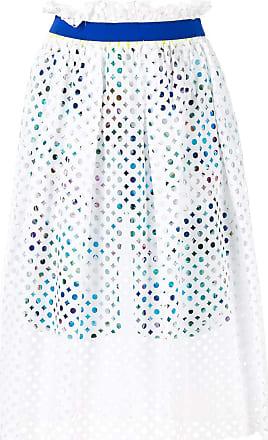 Kolor mesh layered skirt - White
