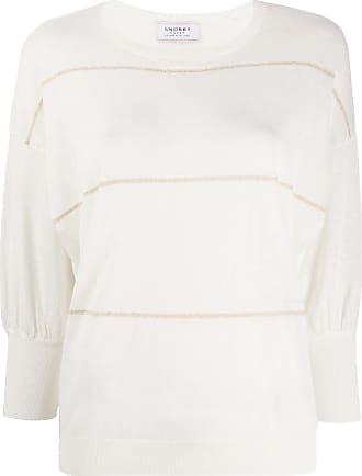 Snobby Sheep Suéter mangas curtas listrado - Branco