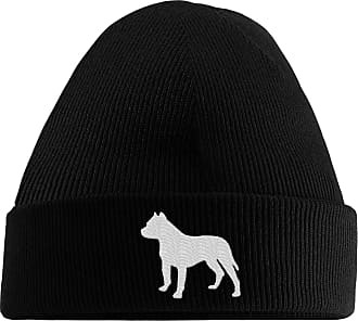 HippoWarehouse Pitbull Logo Embroidered Beanie Hat Black