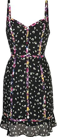 Nicole Miller Ditzy Stems mini dress - Black